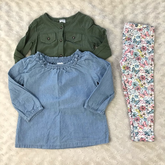 8ed789b7e3ce Carter's Matching Sets | Carters 18 Month Girl Bundle Chambray ...